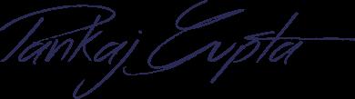Signature Pankaj Gupta